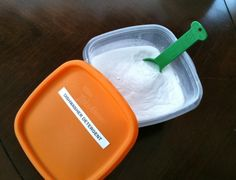dishwasher soap – Baking Soda (frugal favorite!) Borax (all-natural household cleaner, available at many stores in the laundry aisle) Mix together equal parts of each ingredient, store in a labeled container Use just like a commercial powdered detergent, approximately 2 TBS per load. That's it! Each load will cost you mere pennies. (also use vinegar in the jetdry well instead of the expensive stuff)