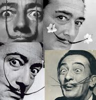 Use Your Coloured Pencils: Dali....the man with many mustaches.... Pipe cleaner mustache!