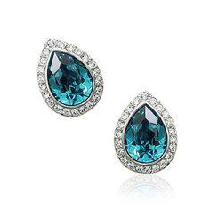 turquoise Ocean Drop stud earrings