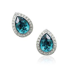 turquoise Ocean Drop stud earrings for the bride #wedding #accessories