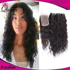 Sew In With Closure, Lace Closure, Fall Hairstyles, Weave Hairstyles, Hair Tips, Hair Hacks, Full Sew In, Natural Waves, Water Waves