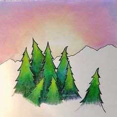 Instagram photo added by briturnerart Hiking was one of my Grandpa's favorite pastimes. Being outdoors helps me to feel closer to him; I love the mountains and the pine trees for this reason! #art #mountains🗻 #forest #pinetrees #naturelover #adventure #explore #prismacolor #coloredpencil #sunset #briturnerart #hike #outdoors #beautifulworld - imgrom.com