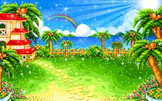 A Animated GIFs image from glitter-graphics.com - Kawaii Tropical!