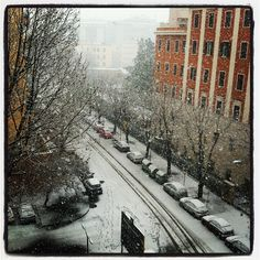 Snowing Rome
