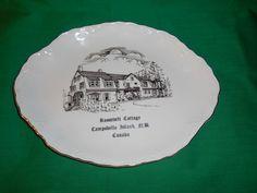 Un (1) 10 po ovale, plateau Souvenir, le Président Roosevelt Cottage, sur l