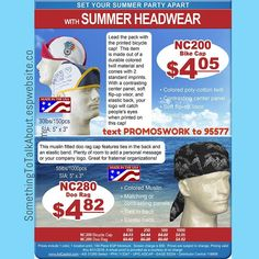 In The Summer Sun You're Covered!  Others will take note of your brand when you choose this Doo Rag.  OR Ride the wave of your companys sucxess with the Bicycle Cap  For more info http://ift.tt/1TqGfPk Or text PROMOSWORK to 95577  Perfect for: #Summertime #motorcycle #summerfun #sun #festivals #sports #events #concerts #hiking #biking #pool #beaches #resorts #vacation #lake #Bicycle #Cap #DooRag #boating #boating #sailing #water #travel #promoswork #promotionalproducts #promotionalproducts…