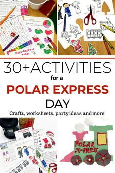 Polar Express Activities for Kindergarten Want to have a Polar Express Day? Here are ideas for a Polar Express Party or Polar Express Day. Have fun with these Polar Express Activities for Kinder Polar Express Party, Polar Express Crafts, Polar Express Christmas Party, Polar Express Activities, Polar Express Train, Preschool Christmas, Christmas Activities, Preschool Crafts, Preschool Ideas