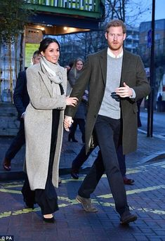 January 9, 2018, Prince Harry and fiance Meghan Markle in Brixton, South London.