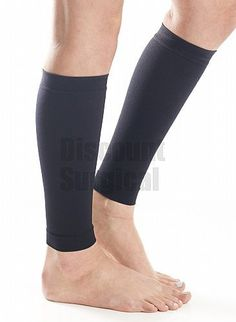 No Foot  Unisex Graduated Calf Firm Supports 20-30mmhg. Discount Surgical Exclusive! Graduated Compression calf sleeve gently compresses your leg between your knee and ankle to improve poor circulation and combat venous insufficiency. Our compression Calf Supports are designed to provide support to the legs and veins, assist with circulation, and minimize swelling.