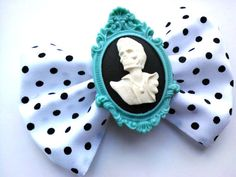 Hey, I found this really awesome Etsy listing at https://www.etsy.com/listing/113797428/zombie-elvis-cameo-psychobilly-hair-bow