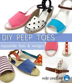 9650dc6cef04 Sandaler diy · Check out the new sewing patterns and complete instructions  available for sewing Dritz Espadrilles peep toe