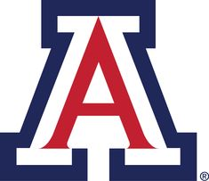 Arizona Wildcats Primary Logo (1990) - A red white and blue 'A'