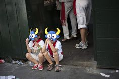 Pamplona Without The Bull: Children in Masks