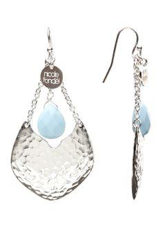 Nicole Fendel Jewellery  - Mani Earrings - Silver & Blue - pretty!