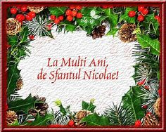 La multi ani de sfantul Nicolae! Birthday Wishes, Happy Birthday, Happy Anniversary Cards, Special Events, Card Making, Lily, Christmas Ornaments, Holiday Decor, Flowers