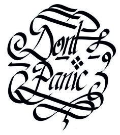 #logo #dontpanic #create #improvise  Created for Fiverr customer.