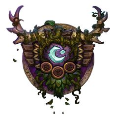 Can't decide where I want this one, but I want the druid crest from world of warcraft as well :D Druida Wow, Game Design, Icon Design, Ui Design, World Of Warcraft Druid, Druid Symbols, Magic Symbols, Elf Druid, Dragons