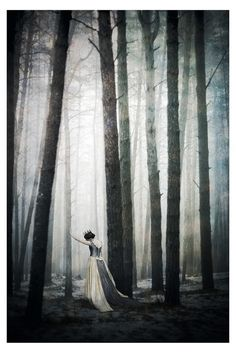 Fairytale fashion fantasy / karen cox.  ♔ once upon a time.Princess in the forest