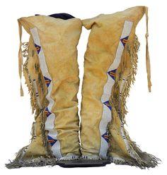 C708 - Antique Sioux Men's Leggings - Antique Beadwork - Shop - Cameron Trading Post