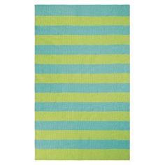 Found it at Wayfair - Awning Stripe Hand-Woven Lake Indoor/Outdoor Area Rug