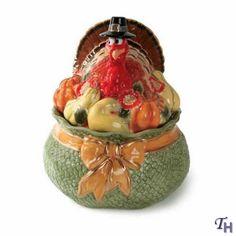 fitz and floyd cookie jars | Thanksgiving Cookie Jar by Fitz and Floyd