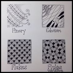 Zentangle : Finery, Echoism, & Flukes : Practice Page | Flickr - Photo Sharing!