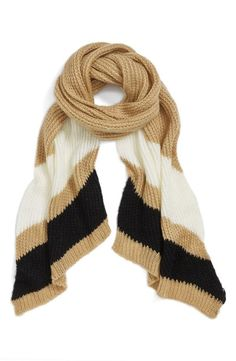 Fall Knit Stripe Scarf