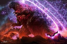 King Kong, Godzilla Franchise, Godzilla Comics, Godzilla Wallpaper, Shadow Dragon, Cool Monsters, Japanese Film, Monster Art, Monster Design