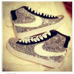 shoes nike sparkly high tops