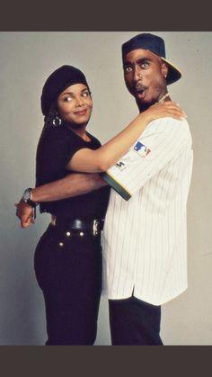 photoshoot relationship cute movie photo black color Tupac justice rapper Poetic Justice janet jackson black couple janet back rapper