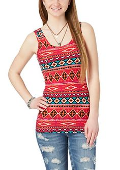 image of Soft Brushed Tribal Tank Top