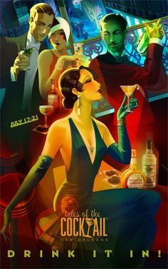 """""""Drink It In!"""" 2013 Tales of the Cocktail poster"""