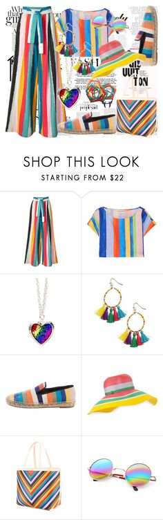 """Beach Swirls"" by toddverbose on Polyvore featuring Whiteley, H&M, Louis Vuitton, Vanity Fair, Tome, Mara Hoffman, Panacea, CÉLINE, Missoni and Sara Battaglia"