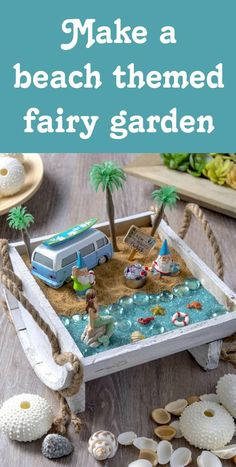 Create your own beach fairy garden and bring a sense of seaside enchantment to your home or outdoor space. It's so easy to put together! via @modpodgerocks
