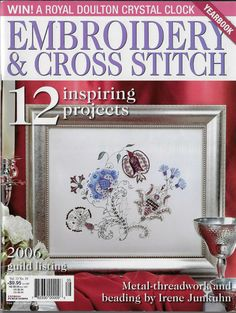 Cross Stitch Magazines, Thread Work, Cross Stitch Embroidery, Beading, Gallery Wall, Metal, Projects, Pattern, Crafts