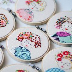 All girl power!!!  #embroidery #elenacaron #illustration #embroideryhoop #handmade #raleigh #nc