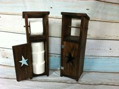 Rustic Toilet Paper Holder with Storage by AuburnSaplingDesigns