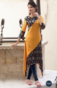 ladies flavor udaan rayon kurtis long stylish patterms - All About Churidar Designs, Kurta Designs Women, Dress Neck Designs, Blouse Designs, Fancy Kurti, Kurti Sleeves Design, Latest Kurti, Kurti Designs Party Wear, Indian Designer Outfits