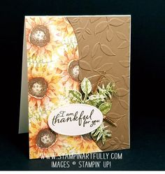 2017  Painted Harvest stamp set , Layered Leaves Dynamic Embossing Folder.