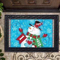 Winter Snoman Doormat