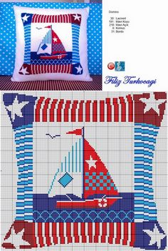 Handicrafts: Seafood designs for cross stitch patterns Cross Stitch Sea, Cross Stitch Pillow, Cross Stitch Charts, Cross Stitching, Cross Stitch Embroidery, Embroidery Patterns, Funny Cross Stitch Patterns, Cross Stitch Designs, Needlepoint