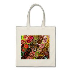 Swirl Me Pretty Colorful Swirls Pattern Tote Bag