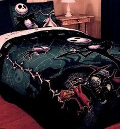 Nightmare Before Christmas Full / Queen Comforter with Jack Skellington Lock Shock and Barrel