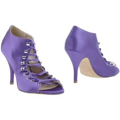Miss Sixty Bootie featuring polyvore women's fashion shoes boots ankle booties purple rubber sole boots open-toe boots miss sixty boots open toe ankle booties purple booties