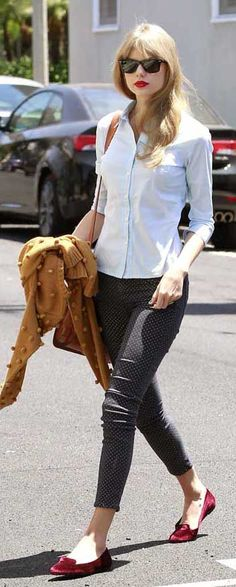 Taylor swift loafer's style #trends #style #fashion trends