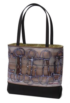 Deco Pony Bit Photo Tote...one of my faves!  Get this and other designer bags 20% off with code Velvet Rider #equestriangift