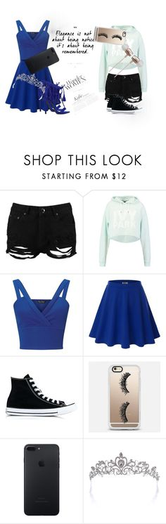 """Elegant and School"" by beckareka on Polyvore featuring Boohoo, Ivy Park, Miss Selfridge, Doublju, Converse, Casetify, Cynthia Rowley, StreetStyle, Sexy and Elegant"