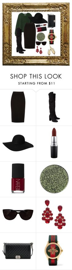 """""""Untitled #21"""" by notosuper on Polyvore featuring River Island, Yves Saint Laurent, Monki, MAC Cosmetics, NARS Cosmetics, Tiffany & Co., L. Erickson, Chanel and Gucci"""