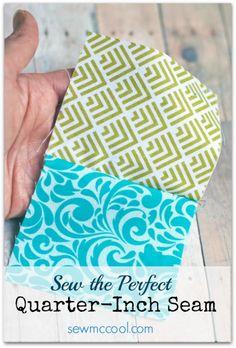 Sew the perfect quarter inch seam by sewmccool.com