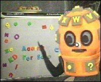 So exciting when they wheeled in the tv for this. Wordy from Look and Read. A BBC television programme for primary schools